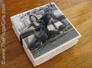 How to Make Photo Coasters...Great Gift Ideas For ALL Members of the Family!