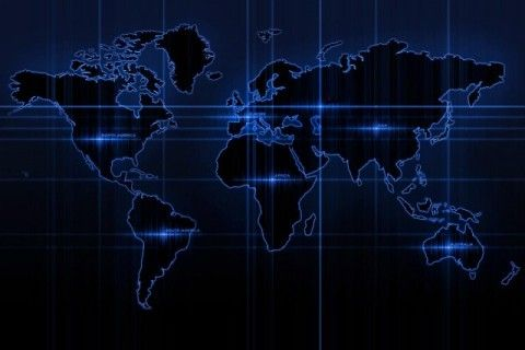 Download Black Neon World Map 35448 Miscellaneous Mobile Wallpapers