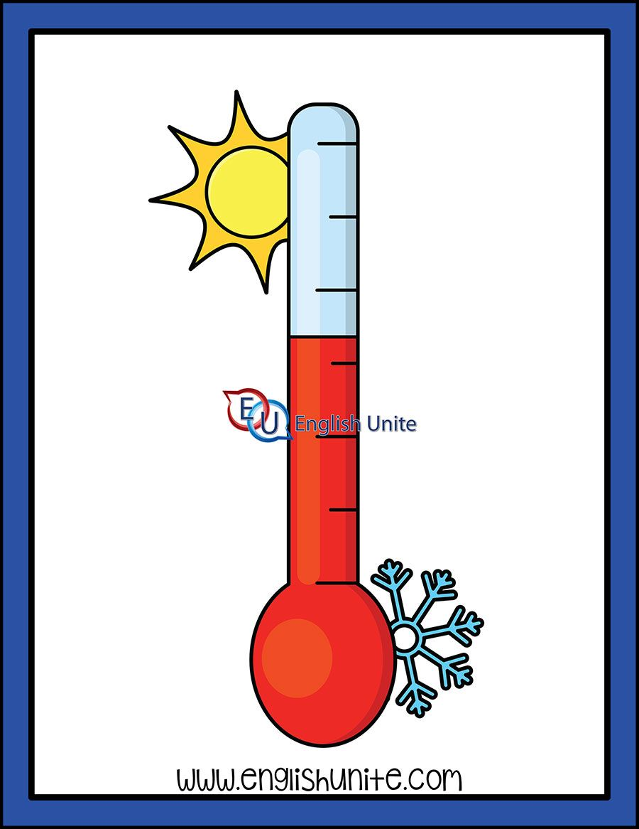 Digraph Thermometer Clip Art