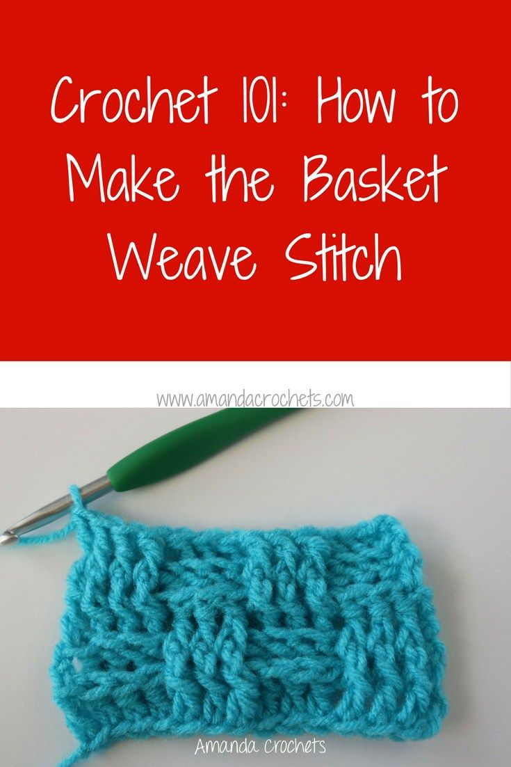 how to make the basket weave stitch | Crochet | Pinterest | Mantas ...