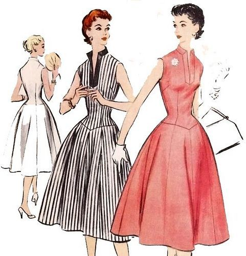 Vintage 1950\'s rockabilly dress sewing pattern | Vintage dress ...