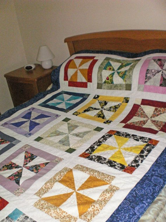 Your Place To Buy And Sell All Things Handmade Quilts Pinwheel Quilt Diy Quilt