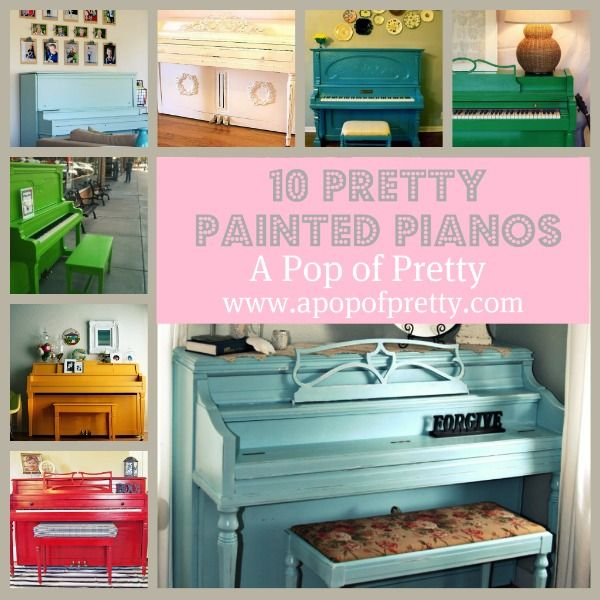 10 Pretty Painted Pianos! (Piano painting | Painted pianos, Pianos ...