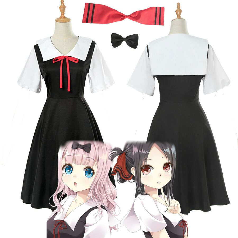 Kaguya-sama Love is War Cosplay Costume School Uniform Sailor Suit Dress Outfit