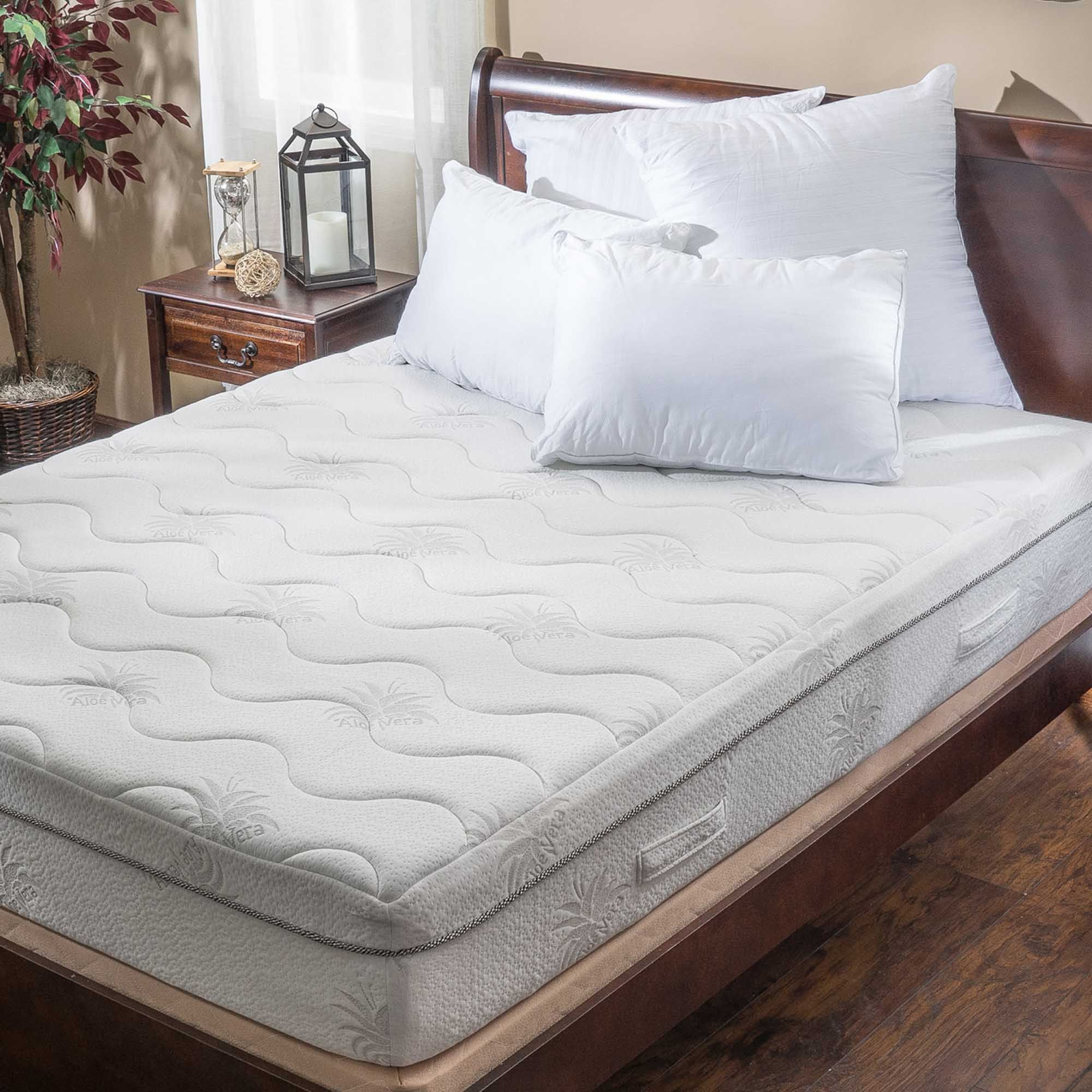 ad aloe gel memory foam 11 inch queen size smooth top mattress built