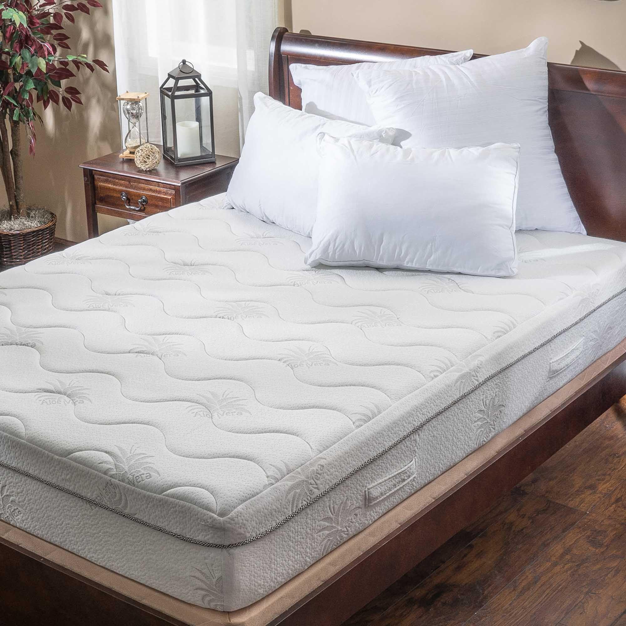 ad aloe gel memory foam 11 inch queen size smooth top mattress built