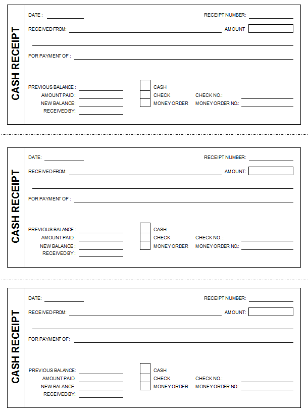 This free cash receipt template helps you create cash receipts for – Template Receipt