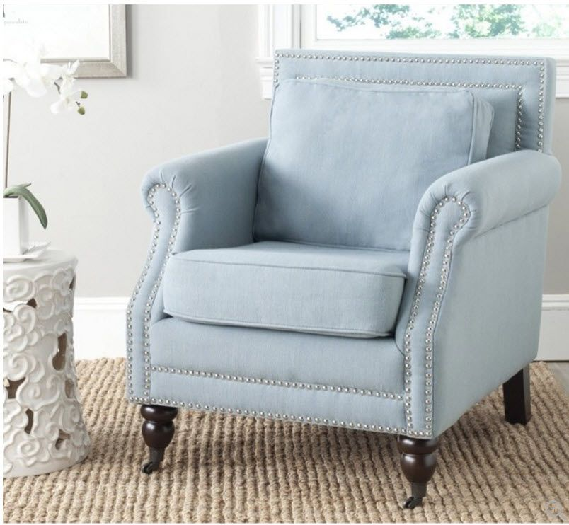Beau Safavieh Karsen Sky Blue Club Chair   Overstock™ Shopping   Great Deals On  Safavieh Living Room Chairs
