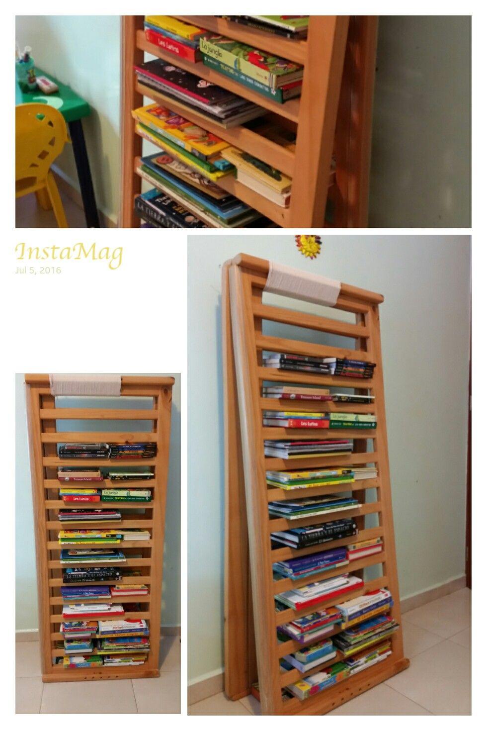 Librero Con Barandales De Cuna Upcycling Pinterest  # Muebles Libreros