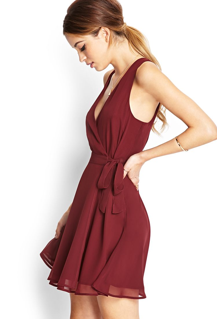 9aa89daec15 Forever 21 beautiful burgundy dress Burgundy Dress Outfit
