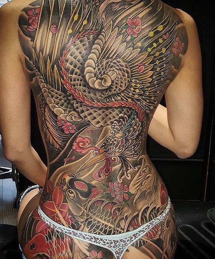 Pin By D C Swafford On Tattoos Japanese Tattoo Back Tattoo Women Traditional Japanese Tattoos