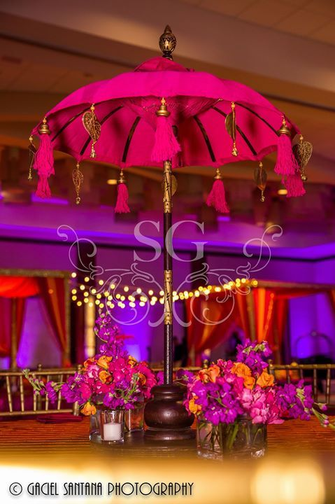 Unique Purple and Gold Wedding Centerpieces