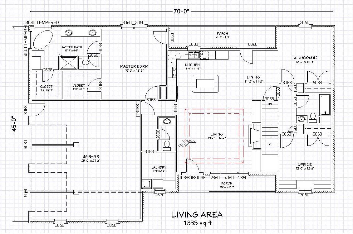 Main floor plan retirement plans pinterest brick for Brick ranch house plans