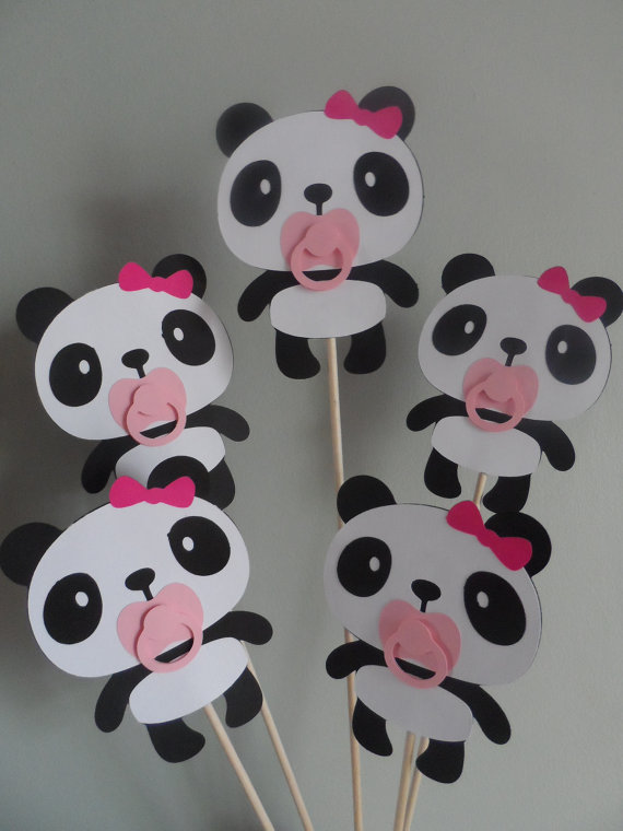 Panda Girl Baby Shower Pincorsage By Diapercake4less On Etsy