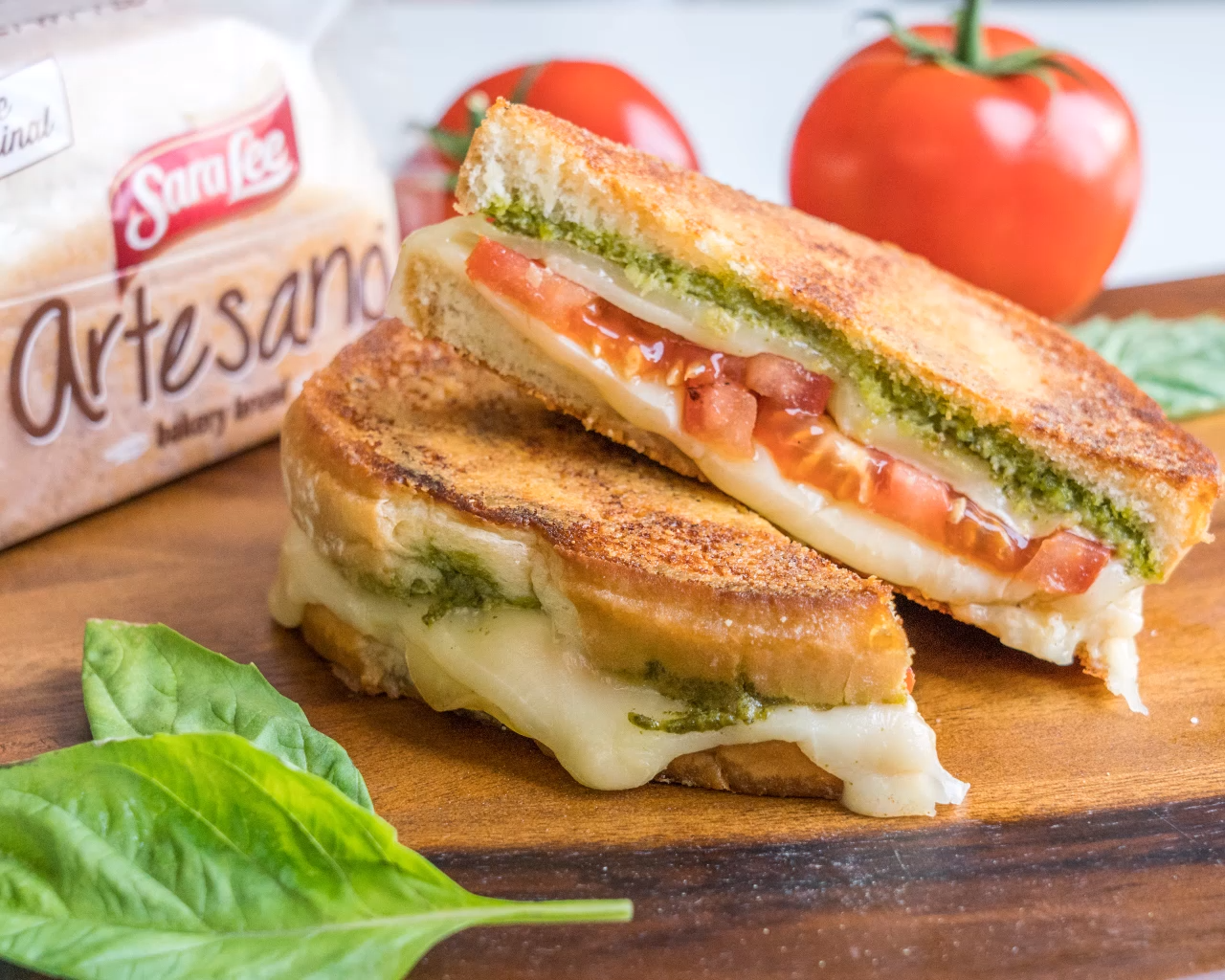 Photo of Parmesan Crusted Caprese Grilled Cheese