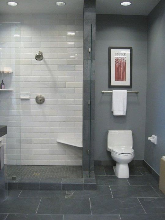Luxury Dark Grey Bathroom Floor Tile