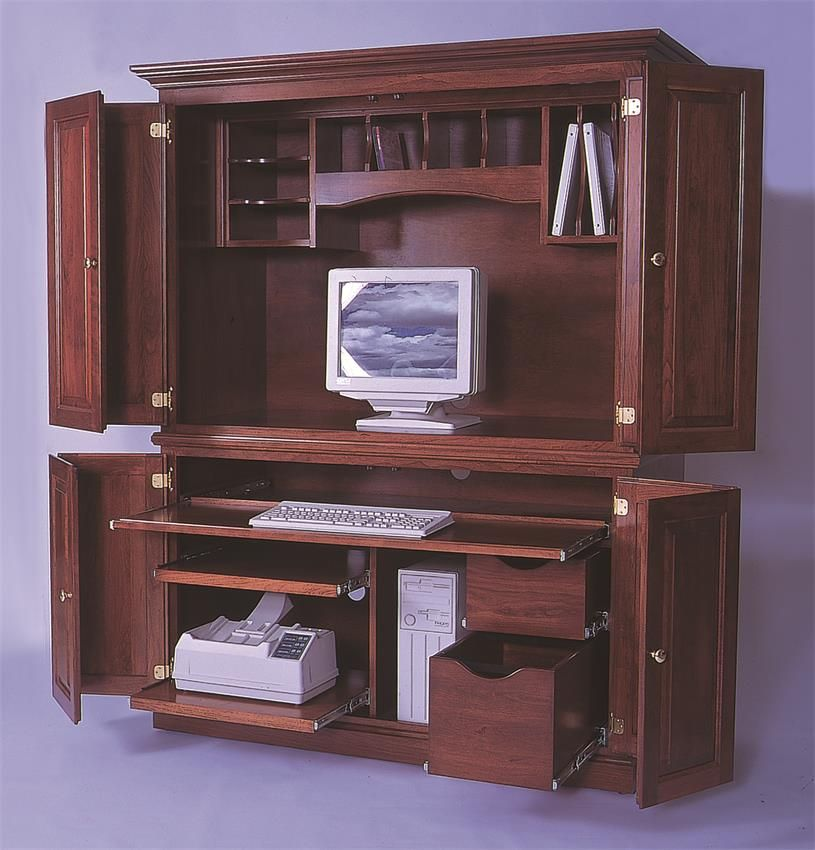 Amish Deluxe Computer Armoire Desk
