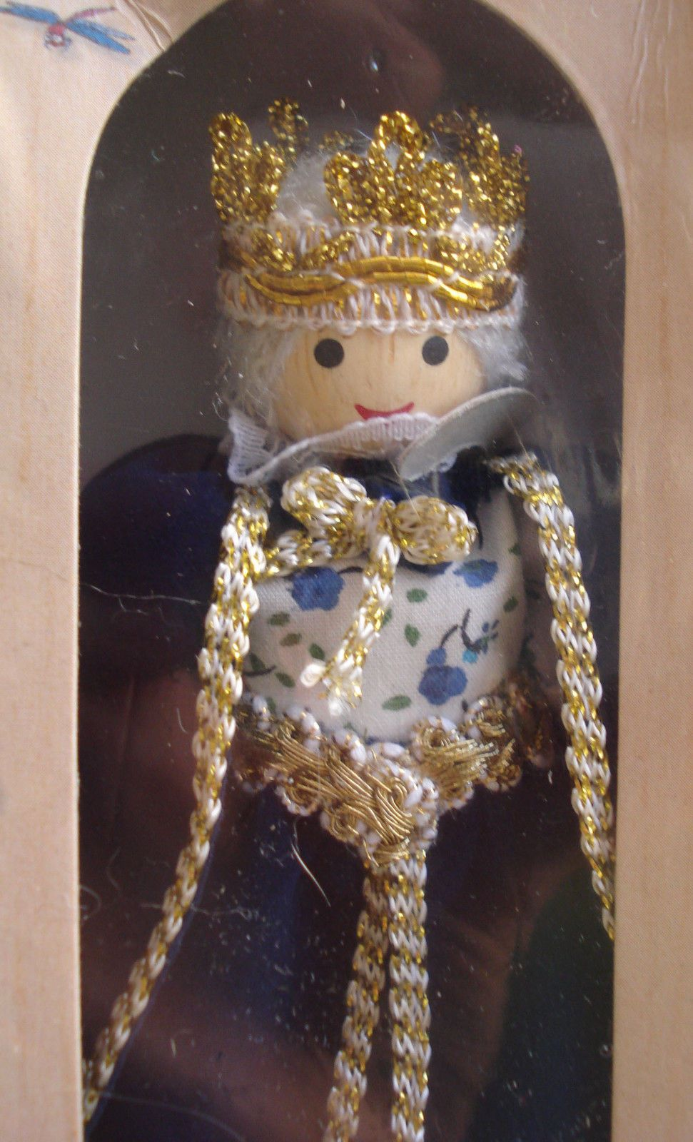 Queen Doll Bendable Poseable Wooden Made By Voila 5 Tall Dolls Bendable Made