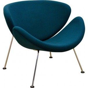 fauteuil orange slice artifort bleu p trole pierre paulin 1990 bleu p trole petrole et orange. Black Bedroom Furniture Sets. Home Design Ideas