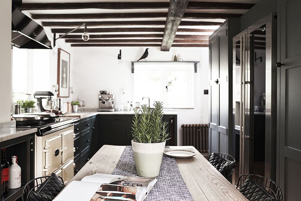 A Modern Kitchen For A 250 Year Old English Cottage Apartment