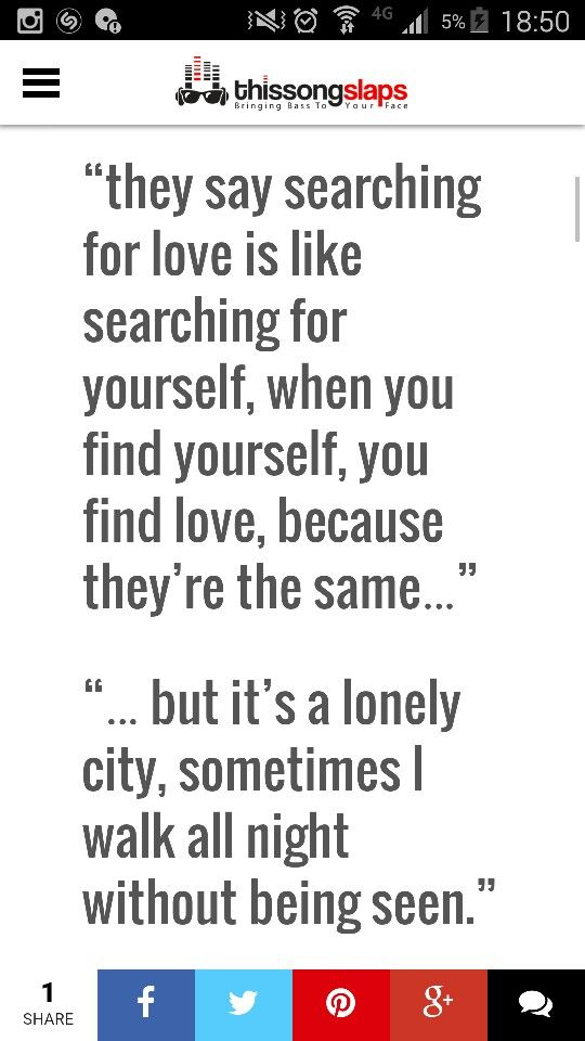 They say searching for love is like searching for yourself, when