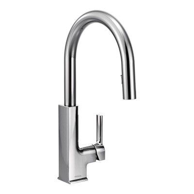 Sto Chrome One Handle High Arc Pulldown Kitchen Faucet Faucet