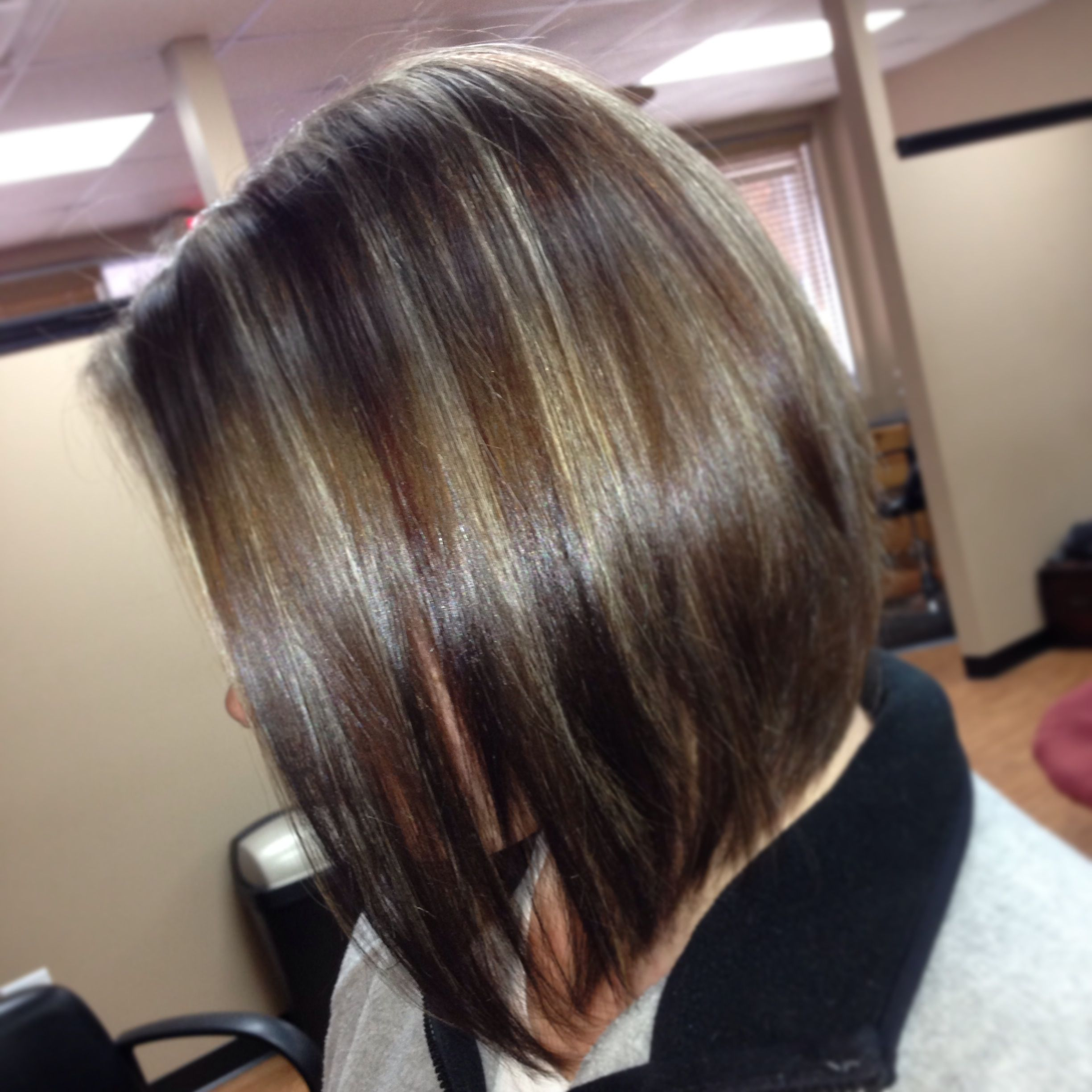 Highlights GOLDWELL & red lowlights 5WM PAUL MITCHELL
