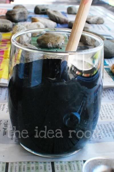 Chalk board paint is expensive…so make your own! Then you will need tosimply mix 1 cup of paint and 2 Tablespoons of grout. That's it! Just make sure to stir it really well so that there are no lumps. You can use any paint. Paint for plastics or acrylic paint or house paint. You can also use any color of paint. How fun is that? There are so many possibilities and price is now no longer a factor! You could paint a whole room in chalk board paint! Your kids would think you were da bomb!