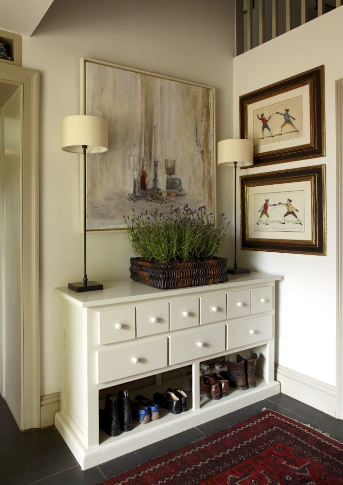 Inspirational Hall Console Table with Shoe Storage