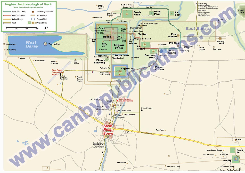 Angkor Karte Alle Tempel auf der Angkor Karte mit PDF