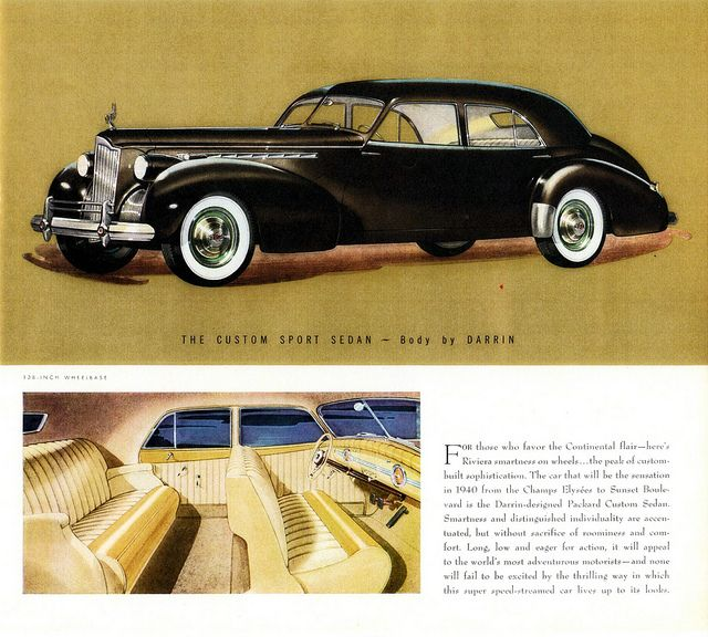 1940 Packard Super-8 One-Eighty Custom Sport Sedan By