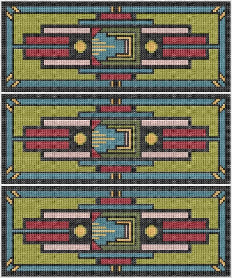 Art Deco 1 - Metro (modern cross stitch) | Craftsy