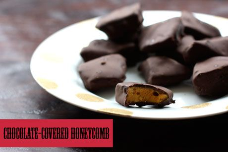 Chocolate-Covered Honeycomb Candy: came out exactly as I wanted #honeycombcandy