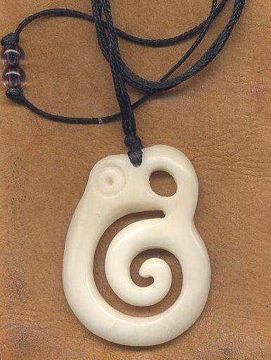 Maori Bone Pendant Koropepe By Steve Kennedy Christchurch Bone Carving Studio New Zealand Bone Pendant Bone Carving Jewelry