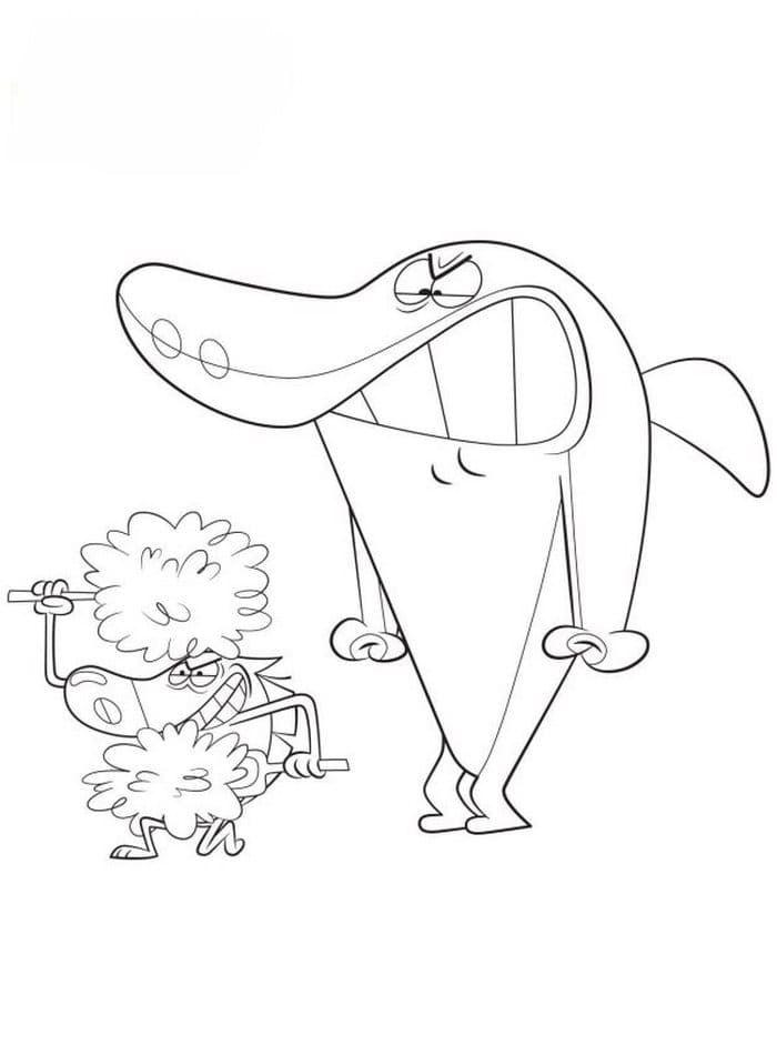Zig And Sharko Coloring Pages Hyena Shark Mermaid Marina Free Colorir