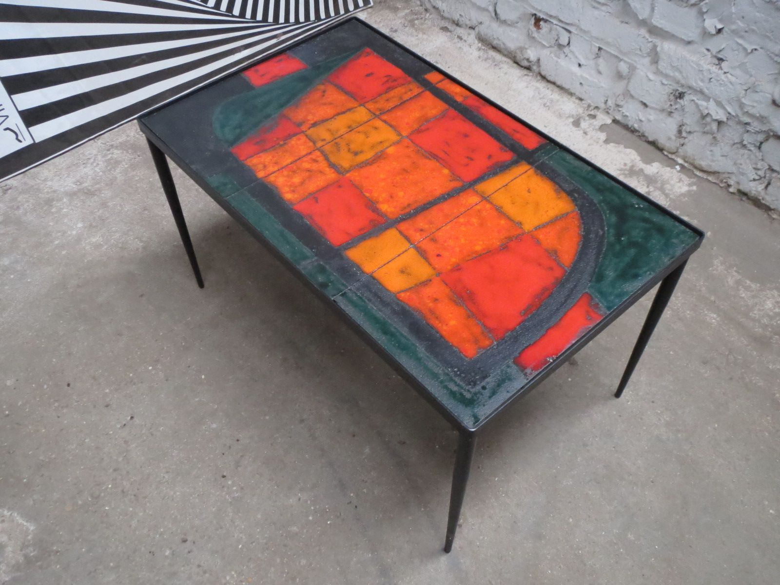 Ceramic Lava Coffee Table by Robert & Jean Cloutier for Potiers de