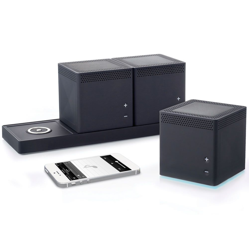 the three room wireless speaker system hammacher schlemmer now this is cool and would come in. Black Bedroom Furniture Sets. Home Design Ideas