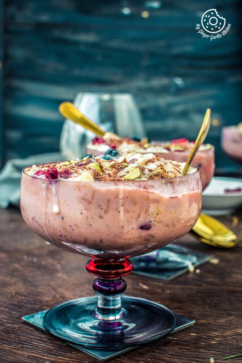 Fruit Cream Rice Kheer Recipe I Indian Pudding Kheer ...