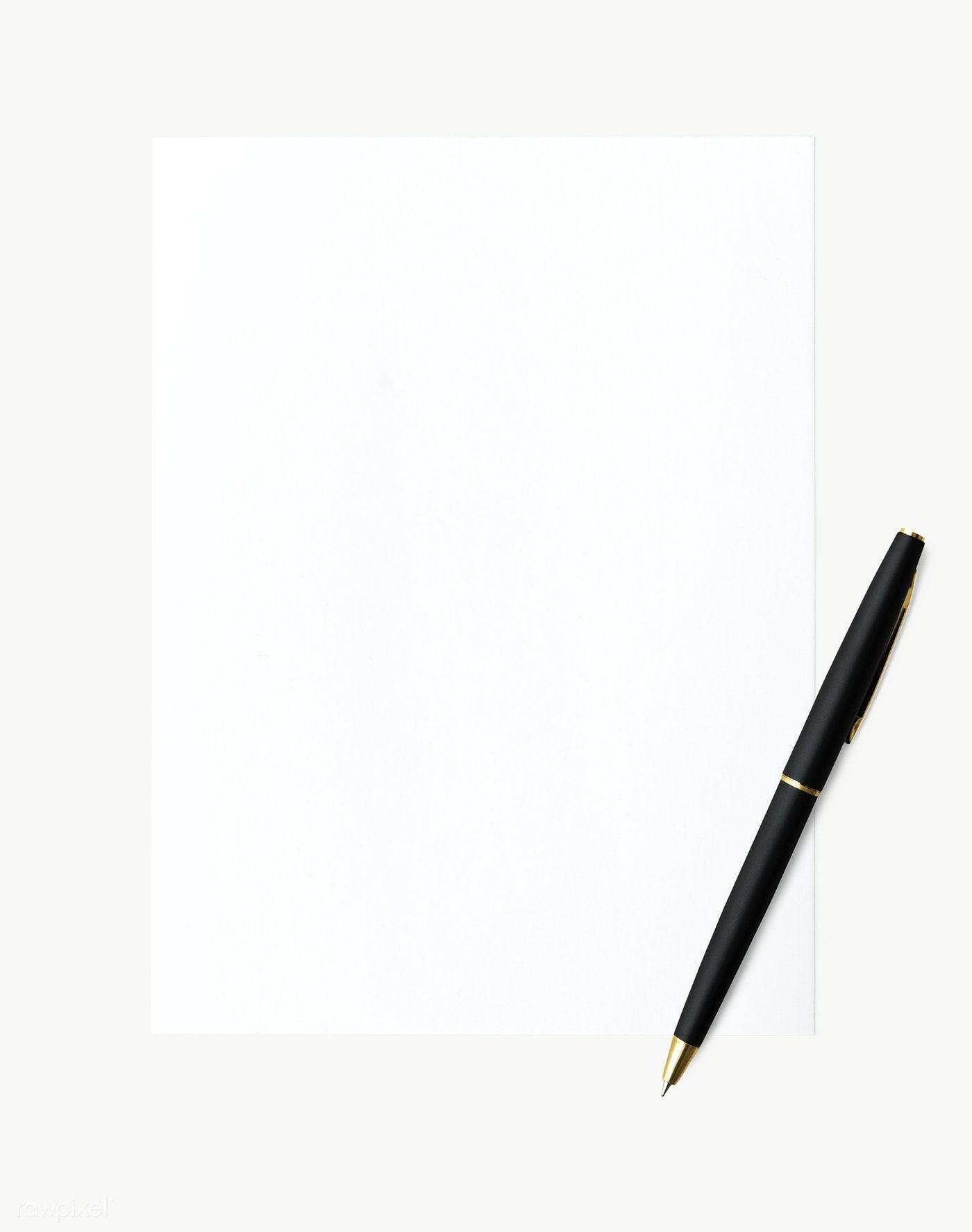 White Paper And Pen Set Transparent Png Premium Image By Rawpixel Com Ployploy Pen And Paper Pen Sets Pen