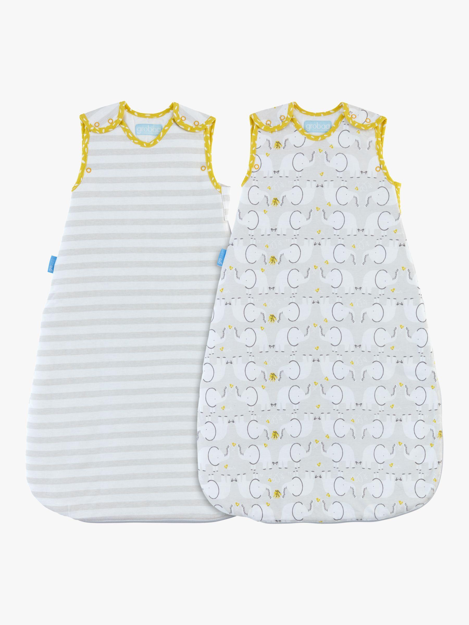 Grobag Elephant Love Twin Sleep Bag 2 5 Tog Pack Of 2 Grey Love Twins Elephant Love Baby Wearing
