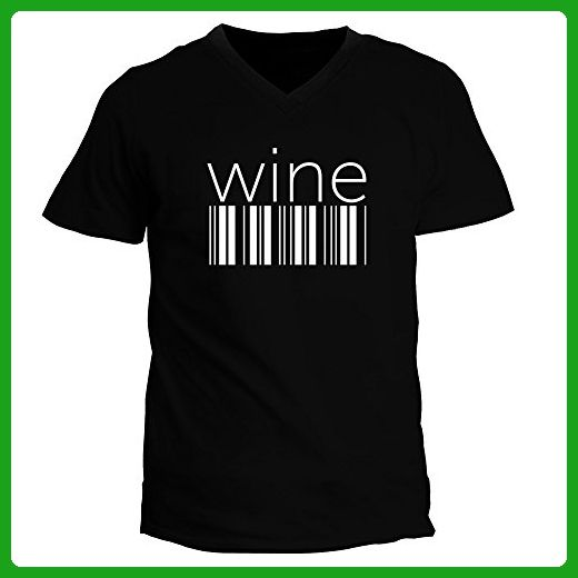 idakoos wine barcode drinks v neck t shirt food and drink shirts amazon partner link