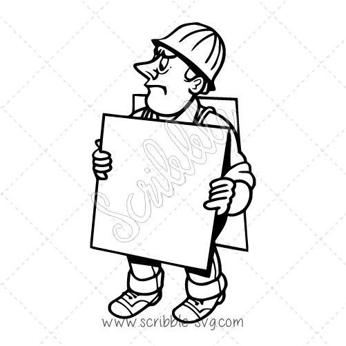 Worker on strike | Whiteboard Animation Images | Whiteboard