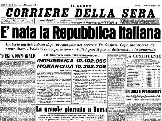 Quando L Italiasi Scoprì Repubblicana Illustrazioni Storiche Immagini Storiche Storia