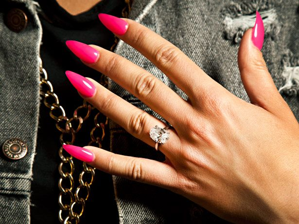 Urban Beauty Said: Stiletto tip nails taking celebsville ... |Stiletto Nails Amber Rose
