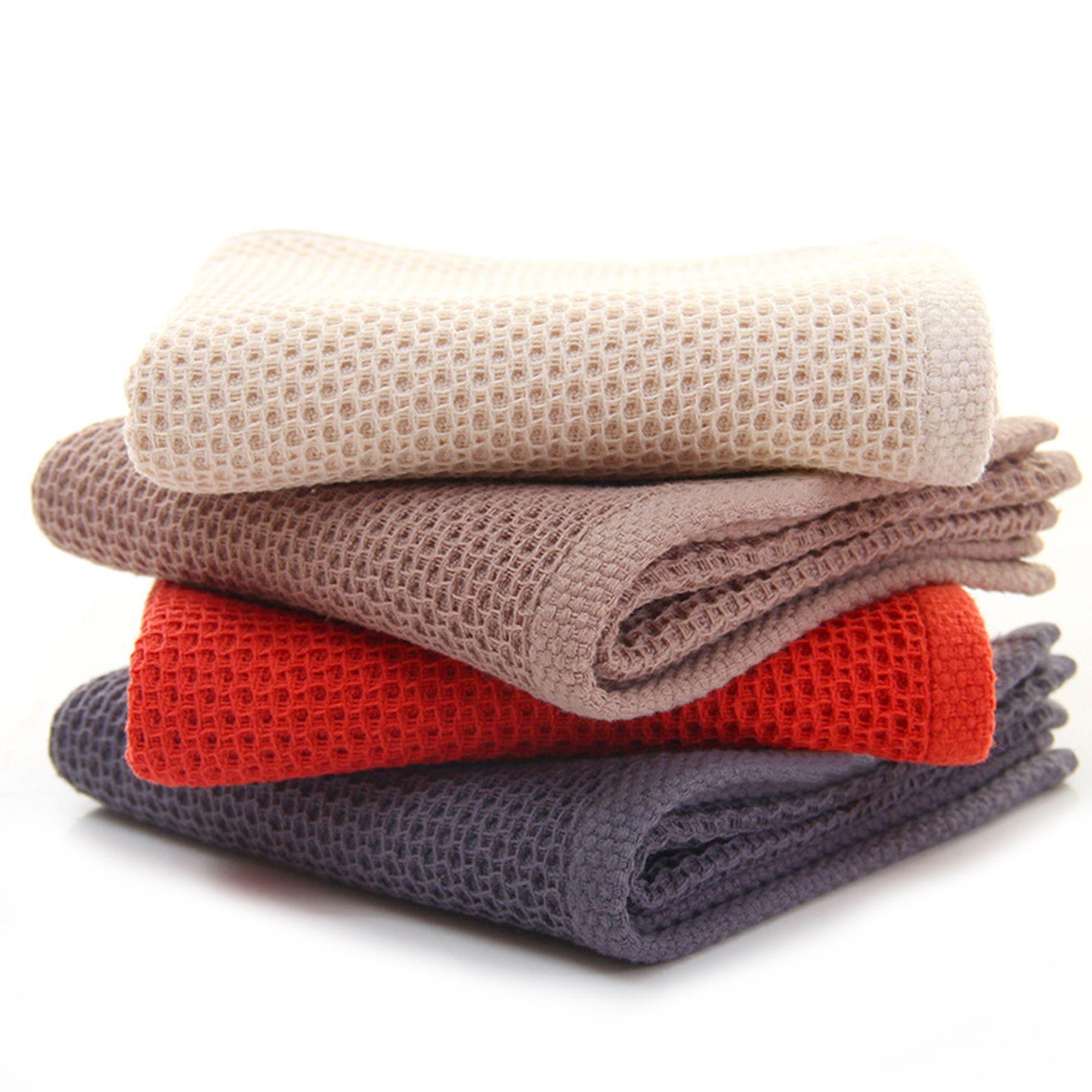 100 Cotton 4 Piece 4 Colors Waffle Cloths Vey Soft And