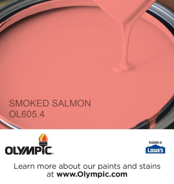 Smoked Salmon Ol605 4 Is A Part Of The Reds Collection By Olympic Paint
