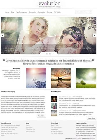 Producto: Evolution v1.6 Theme For WordPress Gratis Precio: 39 ...