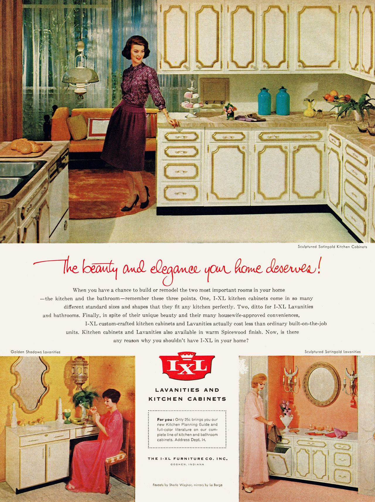 Ixl Lavanities And Kitchen Cabinets 1963 Vintage House Retro Home Mid Century Modern Design