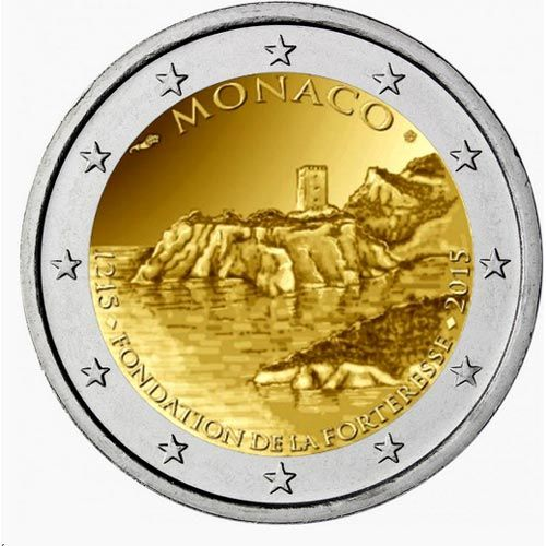 moneda conmemorativa 2 euros monaco 2015 la roca proof. Black Bedroom Furniture Sets. Home Design Ideas