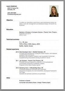 Sample Of A Beginner S Cv Job Resume Format Job Resume Examples Simple Resume Sample